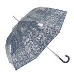 paraguas transparente Ezpeleta estampado piton azul