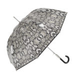 paraguas transparente Ezpeleta estampado piton negro